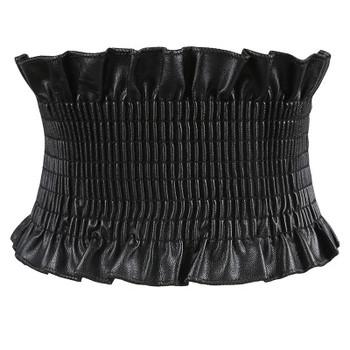 Design Elastic Corset Belts For Women Wide Stretch Elastic Waistband Leather Female Dress Coat Belt Cummerbund Ceinture Femme