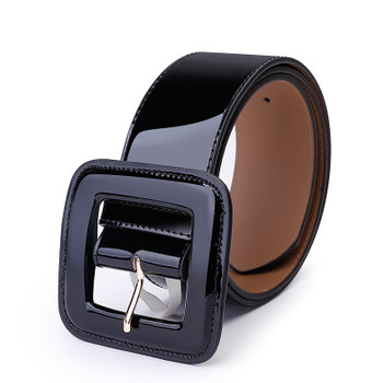 Bright leather Waistband Wide Belts For Women Waist Belt HOT Luxury Fashion Female pin square buckle black Cummerbunds red Dress