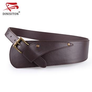 DINISITON Waistband Belts Vintage Women Belt Ladies Metal Buckle Blastic Waist Belt ultra wide Belts For Woman YF002