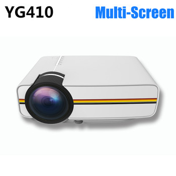 New YG410 Mini LED Projector Mobile Phone Projector W Cable Connection Multi-Screen Mirroring Video Beamer EZCast Projetor