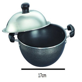 Prestige Omega Select Plus Round Base Kadai With SS Lid (170mm)