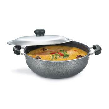 Prestige Omega Select Plus Round Base Kadai With SS Lid (250mm)