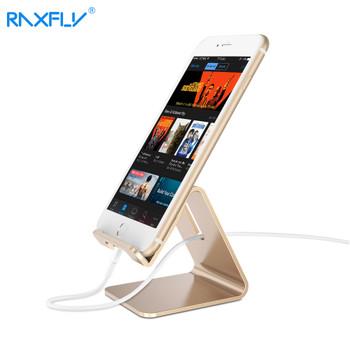 RAXFLY Aluminum Metal Phone Holder Desktop Universal Non-slip Mobile Phone Stand Desk Holder for iPhone Pad For Samsung Tablet