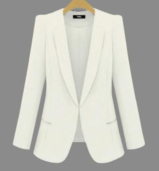 2018 New Plus Size Womens Business Suits Spring Autumn All-match women Blazers Jackets Short Slim long-sleeve Blazer Women Suit