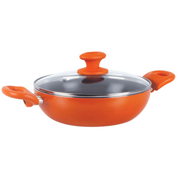 Prestige Creme Ceramic Kadai With Lid (240mm)