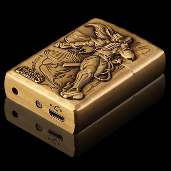 3D Relief LoL Electronic Usb Lighter Rechargeable Cigarette Lighter Windproof Flameless Smoking Gadget Cigar Tools Gift for Men
