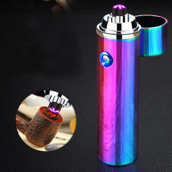 2018 New Electric double Pulse Arc Lighter Tobacco Pipe USB Lighter Smokeless Windproof Cigarette cigar lighters Rechargeable