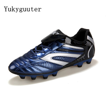 Men Football Soccer Boots Athletic Soccer Shoes 2017 New Leather Big Size High Top Soccer Cleats Training Football Sneaker