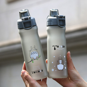 Creative Water Bottle 500ml New Plastic Totoro Bottle For Camping Bicycle Outdoor Sports Shaker Bottles BPA Free Tour