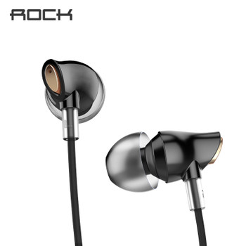 Rock Zircon Stereo Earphone In Ear Headset With Micro 3.5mm In Balanced Immersive Bass Earphones for iPhone, for Xiaomi, Huawei