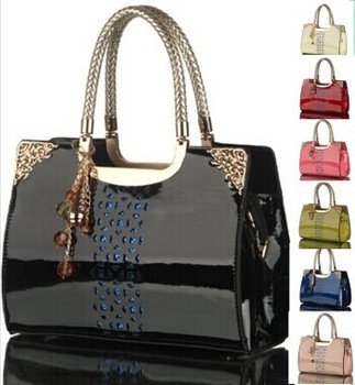 Women's Fashion Luxurious Casual Leather Handbags Totes Purses 7 Colors