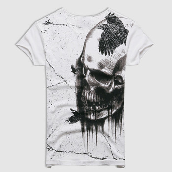 Men 2018 Summer Printed Skull Cotton Short Sleeve T-shirt Men Fashion High Quality New Design Hot Sale T-shirt Men Top Tees