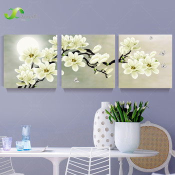 3 Panel Orchid Flowers Wall Art Pictures Wall Flower Canvas Painting For Living Room Home Decoration Painting On Canvas Unframed
