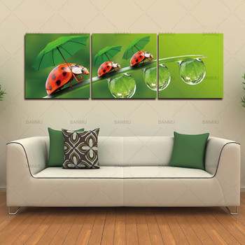 Flower Canvas Print Wall Paintings Decoration Maison Home Picture Oil Art Pictures Modular Painting wall art Modern 3 Piece