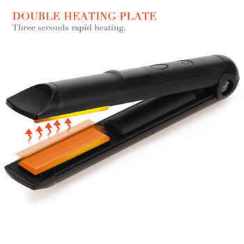 Hair Straightener Flat Iron Mini Rechargeable Cordless Hair Straightener Iron Hair Care Treatment Device Styling Tool