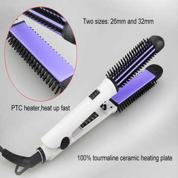 New Fast Hair Straightener Brush With Hair Iron Hair Curler Comb And Message 2 in 1 Multifunctional Styling Tool