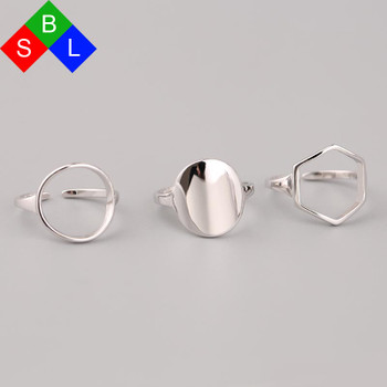 Red Trees Fashion Simple Geometric Shape Adjustable Size Ring 925 Silver Rings Women Real Fine Jewelry Wholesale