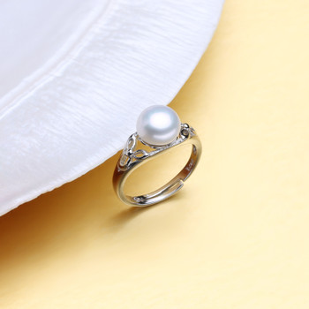 FENASY engagement ring,natural Pearl rings for women,Freshwater pearl jewelry,Bohemian 925 sterling silver ring 2018 new