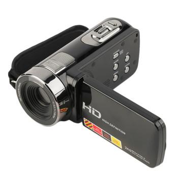270 Degree Rotatable 3.0 inch FHD 1080P 16X Optical Zoom 24MP Digital Video Camera Camcorder DV FHD(1920*1080), HD(1280*720)