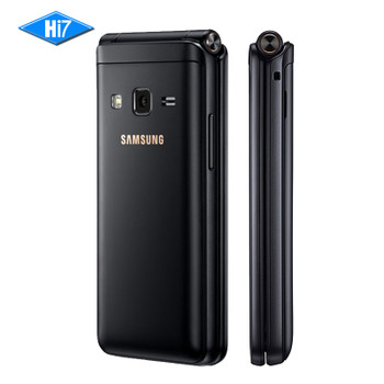 "Original Samsung Galaxy Folder 2 G1650 Dual SIM 16GB ROM 2GB RAM Quad Core 8.0MP 3.8"" Flip SmartPhone 4G LTE Mobile Phone"