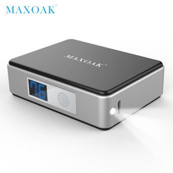 MAXOAK 5200mAh 18650 mini power bank portable external battery Digital Display battery bank charger mobile phone