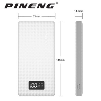 Genuine PINENG PN-963 10000mAh Portable Battery Mobile Power Bank USB Charger Li-Polymer with LED for iphone 5 6s 7 Plus xiaomi