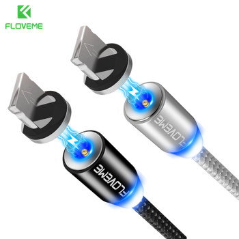 FLOVEME 1M Magnetic USB Cable For iPhone X Micro USB Cable Magnetic Charger For Samsung Xiaomi Mobile Phone Magnet Microusb Cabo