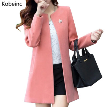 Fashion Round Neck Long Sleeve Women Coats S-XXL Solid Color Casaco Feminino Loose Cardigan 2017 Autumn Slim Thin Outerwear