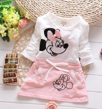 Baby girls dress New Fashion 100% cotton girl dresses Dress 2018 Girl Dress princess party Clothing Kids Clothes