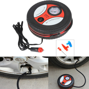 Youwinme Mini Car 260PSI 12V Tyre Tire Wheel Pump Motorcycle Airbed Portable Auto Inflator Electric Air Compressor Bicycle Ball