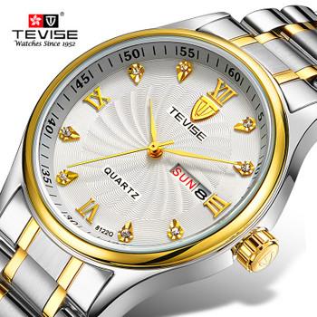 TEVISE Women Watches Luxury Double Calendar Bracelet Watch Ladies Waterproof Fashion Quartz Steel Wrist Watches for Women saat