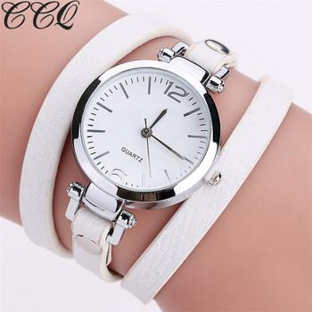 CCQ Brand New Fashion Luxury Leather Bracelet Watch Ladies Quartz Watch Casual Women Wristwatches Relogio Feminino Hot Selling