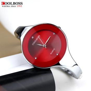 Watch Women Coolboss luxury brand Fashion Casual quartz Unique Stylish bracelet watches sport Lady wristwatches Relogio