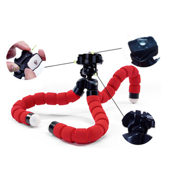 Mini Portable Flexible Spong Adjustable Octopus Tripod  Phone Holder Mount Monopod Bracket Stand For iPhone Samsung Sony