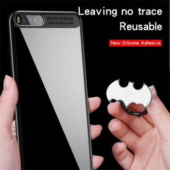Pop Luxury Batman Aluminum Metal Universal Finger Ring Smartphone Mobile Cell Phone Hand Desk Stand Holder Repeated 360 Rotating