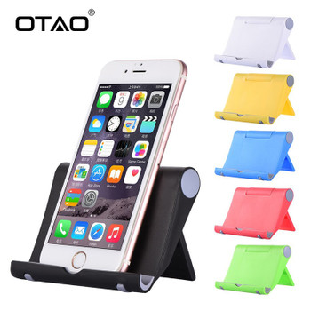 OTAO Universal Desk Phone Holder Stand Flexible Folding Mobile Phone Holder For iPhone For Samsung For MP5 Smart Phone Stand