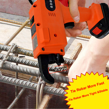 12V Automatic Cordless Rechargeable Lithium Battery Electric Rebar Tying Machine Tool Set For Building Project Rebar Tier
