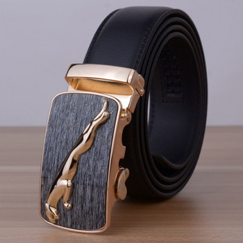 2016 Fashion Jaguar Top Designers Luxury Cowhide Brand Genuine Leather Belts for Mens Wedding Male Cowskin Strap Ceinture Homme
