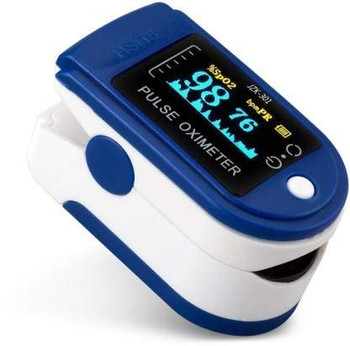 CMS50M Finger Fingertip Blood Oxygen Meter SPO2 LED Pulse Heart Rate Monitor,Pouch