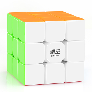 D-FantiX Qiyi Warrior W 3x3x3 Speed Cube Stickerless Professional Magic Cube Puzzles Colorful Educational Toys For Children