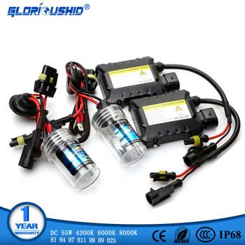 55W HID Xenon Kit H7 H4 H1 H8 H9 H11 D2S xenon hid ballast 4300K 6000K 8000K HID Xenon Light bulb Headlight Lamp 12V xenon H7