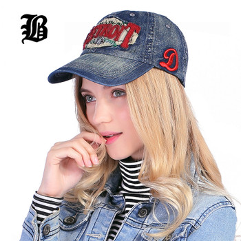 [FLB] New Fashion Cowboy Baseball Cap Lining Fall Sanpback Hats For Men And Women Fitted Denim Jeans Hip Hop Wholesale