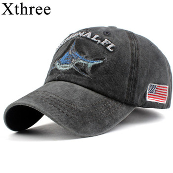 Xthree 100% washed cotton men baseball cap fitted cap snapback hat for women gorras casual casquette embroidery letter retro cap