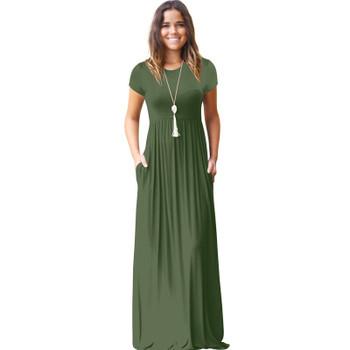 CINQ DIAMANTS Women Long Dress Summer Maxi Dress Pocket Lange Jurk Femme Longue Robe Vestido Longo Verano sukienka dress longo