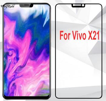 2pcs Screen Protector Vivo X21 ud Glass 2.5D Tempered Glass sFor Vivo X21 ud Full Cover Glass BBK Vivo X21ud Phone Film WolfRule