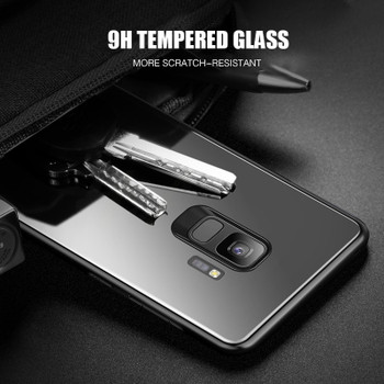 H&A Full Cover Tempered Glass Phone Case For Samsung Galaxy S9 Plus Hard Glass Case For Samsung S9 Shockproof Protective Cover