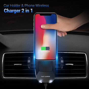 FLOVEME 5V/2A Qi Wireless Car Charger For Samsung Galaxy S9 S8 Plus NOTE 8 360 Rotation Car Holder Charging For iPhone X 8 Plus