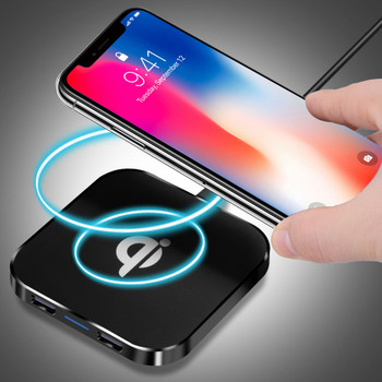 Essien 10W Fast USB Charging Pad For iPhone X 8 Samsung S8 Plus Note 8 QI Wireless Charger Standard Mobile phone wire charger