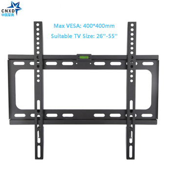 CNXD Fixed TV Wall Mount TV Bracket for Most 26-55 Inch LED LCD and Plasma TV up to VESA 400x400mm and 110lbs Loading Capacity