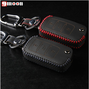 Leather key cover For VW Seat Ibiza cupra alhambra mii toledo TIGUAN GOLF POLO PASSAT /Skoda Octavia Fabia Superb,Rapid, Yeti